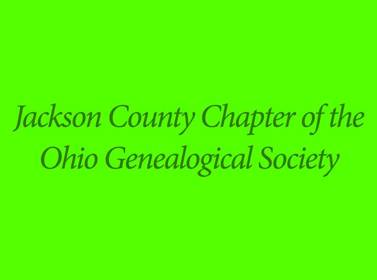 Jackson County Chapter of the Ohio Genealogical Society